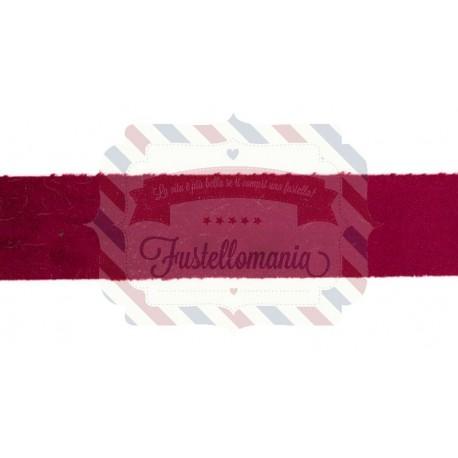Nastro Velvet colore bordeaux 1 metro x 4 cm