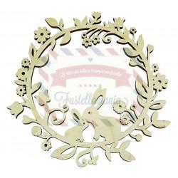 Ghirlanda Primavera in legno diam. 25 cm x 7 mm