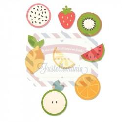 Fustella Sizzix Bigz Fruit shapes by Laura Kate