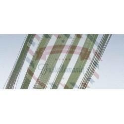 Filo di ferro 1 mm x 30 cm 25 pezzi colore verde