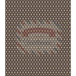 Tessuto 100% cotone 45x50 cm retro black floral