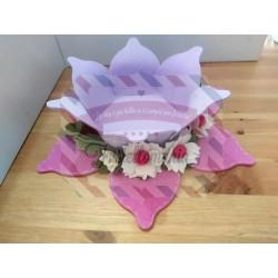 Fustella XL Cestino petaloso con fiore e foglia