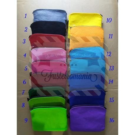 Astuccio beauty in panno colorato con cerniera 16 colori
