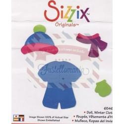 Fustella Sizzix Originals Set vestiti invernali bimba bambola