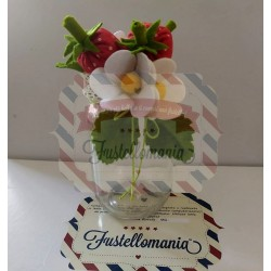 Fustellati Fragola fiori e foglie + barattolo