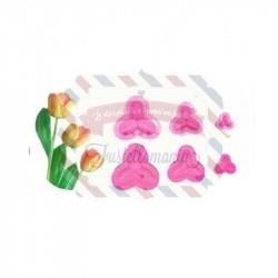 Stampo petali tulipano per fommy 3 pezzi