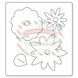 Fustella Sizzix Bigz Flower Layers with leaf