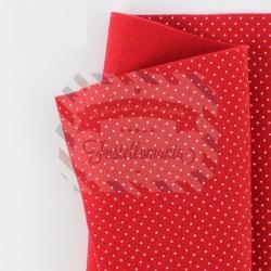 Pannolenci pois 50x45 cm colore rosso
