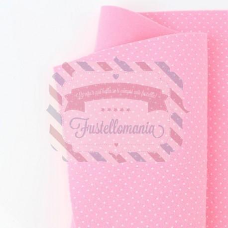 Pannolenci pois 50x45 cm colore rosa