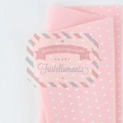 Pannolenci con cuori 50x45 cm colore rosa baby