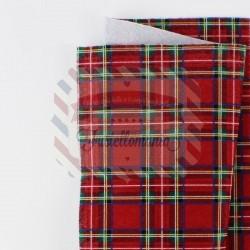 Pannolenci scozzese 50x45 cm colore rosso