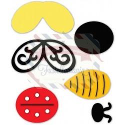 Fustella Sizzix Originals Sculture di carta ape e coccinella