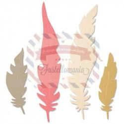 Fustella Sizzix Bigz Natural Feathers
