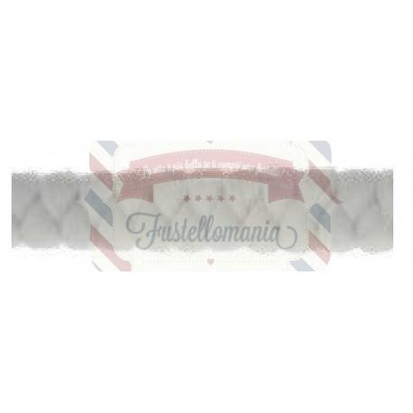 Cordoncino intrecciato bianco 50 cm
