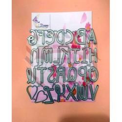 Fustella metallica Alfabeto maiuscolo Cut 11