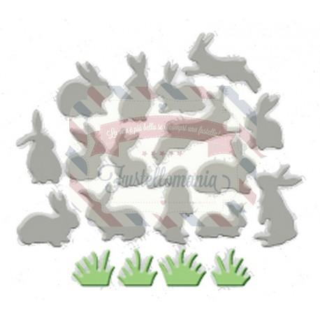 Fustella metallica Mini coniglietti