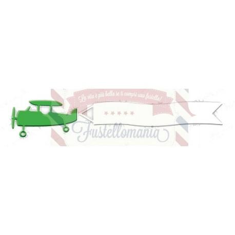 Fustella metallica Aeroplano con striscione