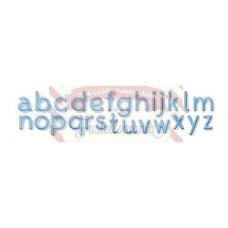 Fustella metallica Alfabeto piano
