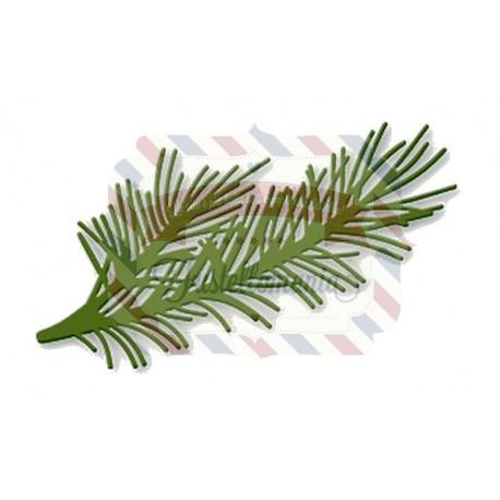 Fustella metallica Rametto di pino