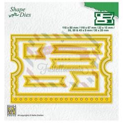 Fustella metallica Nellie's Choice Ticket booklet