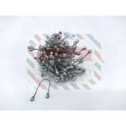 Mazzetto di pistilli colore argento 3mm 130 pezzi