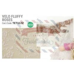 Velo fluffy roses 40x100 cm