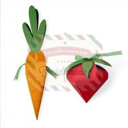 Fustella Sizzix A4 box Carrot & Strawberry