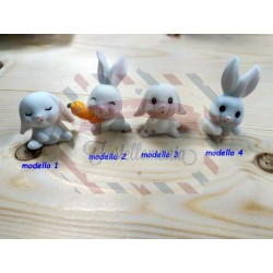 Coniglietto in plastica a scelta