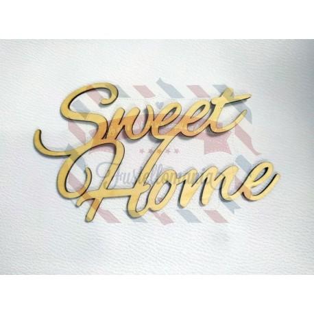 Scritta in legno Sweet Home