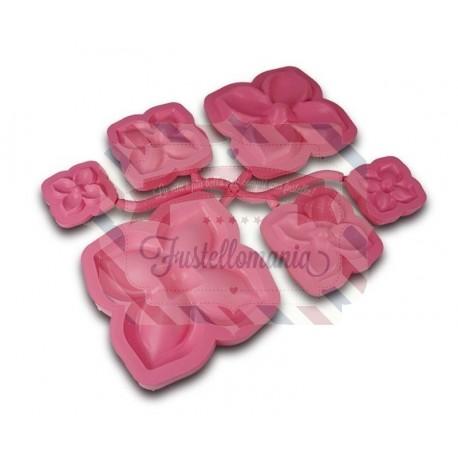 Stampo petali di rosa per fommy 6 pezzi
