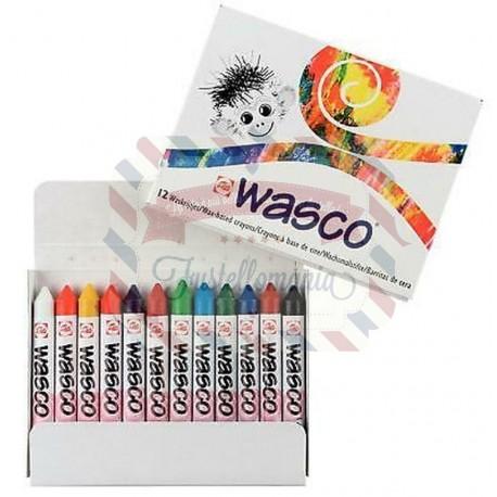 Set pastelli a cera WASCO 12 colori