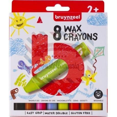 Set pastelli a cera Bruynzeel 8 colori