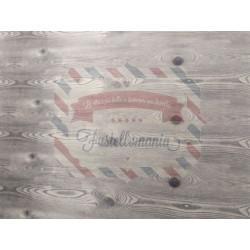 Feltro stampato effetto legno shabby 50x40 cm