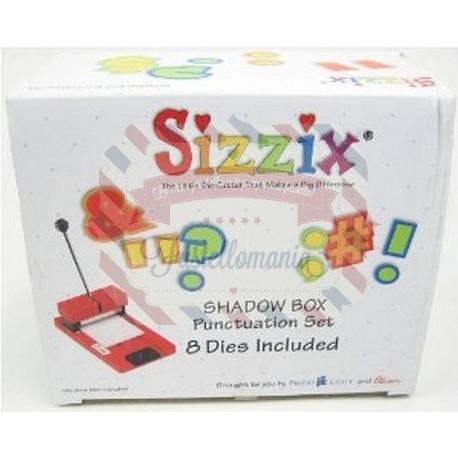 Fustella Sizzix Shadow Box Number Set Segni di punteggiatura