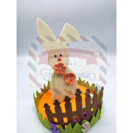 Fustella XL Coniglio e fiorellino