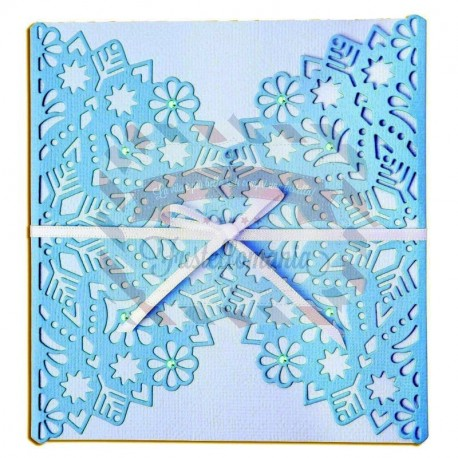 Fustella Sizzix Thinlits Snowflake wrap