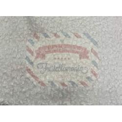 Tessuto peluche colore panna 75x30 cm