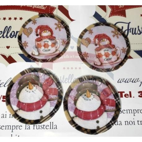Pannolenci stampato 1mm fantasia con palline di Natale 40x50 cm