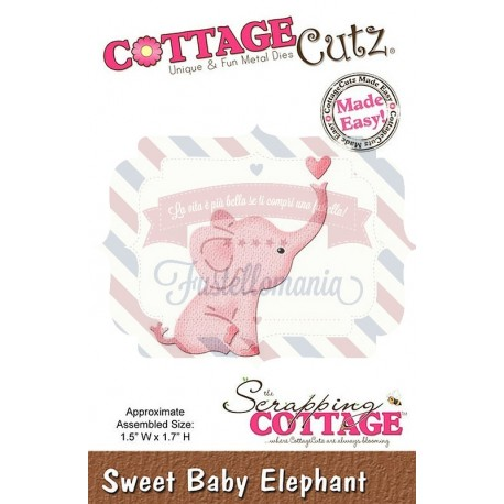Fustella metallica Cottage Cutz Baby elephant mini