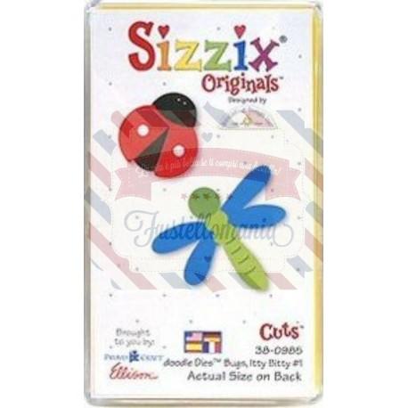 Fustella Sizzix Originals Yellow Coccinella e foglia