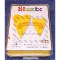 Fustella Sizzix Originals Yellow Cuori primitivi