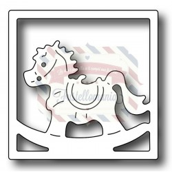 Fustella metallica Cavallo a dondolo