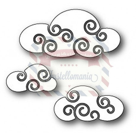 Fustella metallica PoppyStamps Twirly Clouds