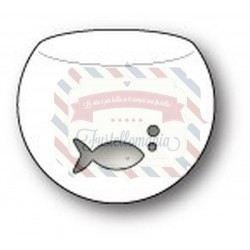 Fustella metallica PoppyStamps Little Fish Bowl