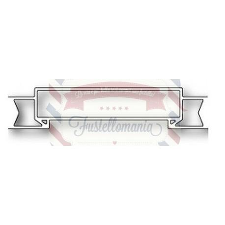 Fustella metallica PoppyStamps Banner Sash