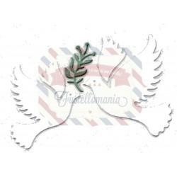 Fustella metallica Colombe della Pace
