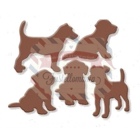 Fustella metallica Set cani