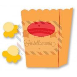 Fustella Sizzix Originals Popcorn e cartoccio
