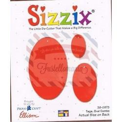 Fustella Sizzix Originals Tags ovali oval combo