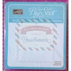 Fustella Sizzix Bigz Stampin UP clear large scallop square